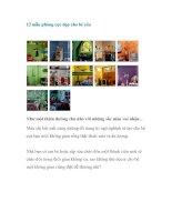 Tài liệu 12 mẫu phòng cực đẹp cho bé yêu potx