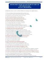 Phương pháp làm bài tập chuyển đổi cấu trúc câu môn tiếng anh