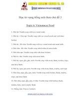 Tài liệu Học từ vựng tiếng anh theo chủ đề 3 Topic 6: Vietnamese Food docx