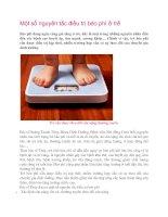 Tài liệu Một số nguyên tắc điều trị béo phì ở trẻ pptx