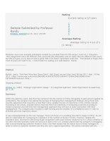 Tài liệu Oganizational behavior analysis by Professor Randy ppt