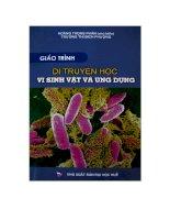Tài liệu Giáo trình di truyền học vi sinh vật và ứng dụng pptx
