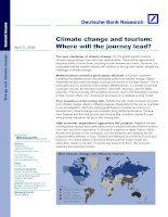 Tài liệu CLIMATE CHANGE AND TOURISM: WHERE WILL THE JOURNEY LEAD? docx