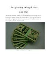 Tài liệu Làm giàu từ ý tưởng tổ chức sinh nhật doc