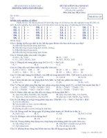 Tài liệu Đề kiểm tra định kì môn hoá học 10 trường nguyên dục docx
