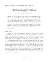 Tài liệu GIẢI PHÁP NÂNG CAO CHẤT LƯỢNG ĐÀO TẠO Ở TRƯỜNG ĐẠI HỌC KINH TẾ - ĐẠI HỌC HUẾ pot