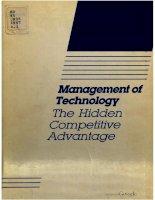 Tài liệu Management of Technology: The Hidden Competitive Advantage docx