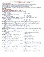 Đề cương ôn tập HK2 môn hóa học lớp 9
