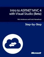 Tài liệu Intro to ASP.net MVC 4 With Visual Studio doc