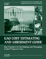Tài liệu gao cost estimating and assessment guide doc