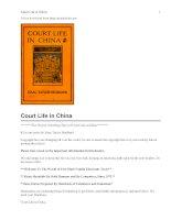 Tài liệu Court Life in China docx