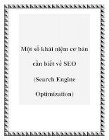 Tài liệu Một số khái niệm cơ bản cần biết về SEO (Search Engine Optimization) pot