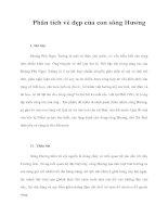 Tài liệu Phân tích vẻ đẹp của con sông Hương pot
