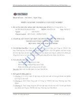 Tài liệu Luận văn: Kế toán tập hợp chí phí SX & tính giá thành sản phẩm tại Cty TNHH Dệt may TM Tấn Minh ppt