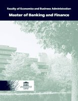 Tài liệu Faculty of Economics and Business Administration Master of Banking and Finance doc