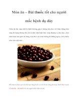 Tài liệu Món ăn – Bài thuốc tốt cho người mắc bệnh dạ dày doc