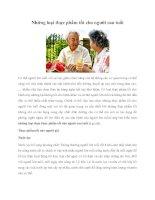 Tài liệu Những loại thực phẩm tốt cho người cao tuổi doc