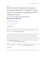 Tài liệu The Little Guide To Beating Procrastination, Perfectionism and Blocks: A Manual for Artists, Activists, Entrepreneurs, Academics and Other Ambitious Dreamers docx