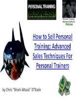 Tài liệu How to Sell Personal Training: Advanced Sales Techniques For Personal Trainers doc