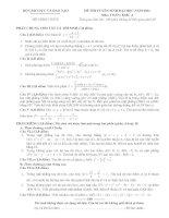 Tài liệu Tổng hợp đề thi đại học và đáp án môn toán các khối (từ năm 2007 - 2012) doc