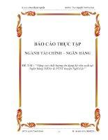 Nâng cao chất lượng tín dụng hộ sản xuất tại Ngân hàng NHNo & PTNT huyện Nghi Lộc