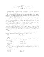 Bài tập trắc nghiệm hóa học THPT