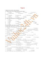Tài liệu University english exam test 6 potx