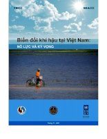 Tài liệu Biến đổi khí hậu ở Việt Nam: Nỗ lực và kỳ vọng doc