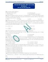 Đề thi thử đại học số 1 - 2013 môn Vật lý Thầy Hải