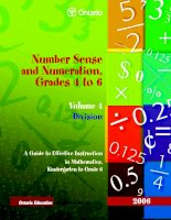 Tài liệu Number Sense and Numeration, Grades 4 to 6 Volume 4 Division docx