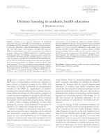 Tài liệu Distance learning in academic health education: A literature review pdf
