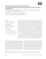Tài liệu Báo cáo khoa học: Biochemical characterization of human 3-methylglutaconyl-CoA hydratase and its role in leucine metabolism docx