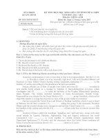 Tài liệu Đề thi HSG tỉnh Quảng Bình lớp 11 môn tiếng Anh pdf