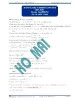 Hướng dẫn giải đề thi thử số 2 - 2012 môn toán thầy phương