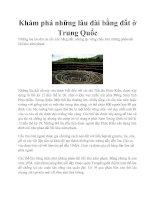 Tài liệu Khám phá những lâu đài bằng đất ở Trung Quốc pptx