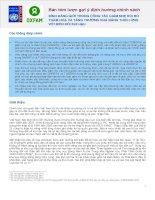 Tài liệu BÌNH ĐẲNG GIỚI TRONG CÔNG TÁC GIẢM NHẸ RỦI RO THẢM HOẠ VÀ TĂNG TRƯỞNG KHẢ NĂNG THÍCH ỨNG VỚI BIẾN ĐỔI KHÍ HẬU doc