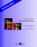 Tài liệu The Basics of Social Marketing - How to Use Marketing to Change Behavior docx