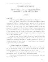 Tài liệu PHƯƠNG PHÁP NÂNG CAO HIỆU QUẢ DẠY HỌC PHÂN MÔN VẼ TRANG TRÍ Ở BẬC THCS ppt
