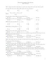Tài liệu Bộ câu hỏi trắc nghiệm ôn tập cuối năm Môn: Toán lớp 4 ppt
