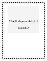 Tài liệu Vấn đề chọn từ khóa khi làm SEO pdf