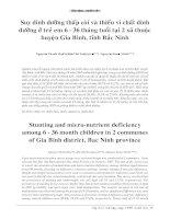 Tài liệu Suy dinh dưỡng thấp còi và thiếu vi chất dinh dưỡng ở trẻ em 6 - 36 tháng tuổi tại 2 xã thuộc huyện Gia Bình, tỉnh Bắc Ninh pot