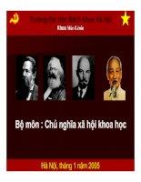 Tài liệu Bộ môn : Chủ nghĩa xã hội khoa học ppt