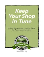Tài liệu Keep Your Shop in Tune A Best Management Practices Guide for Automotive Industries docx