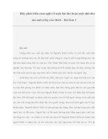 Tài liệu Hãy phát biểu cảm nghĩ về một bài thơ hoặc một nhà thơ mà anh (chị) yêu thích - Bài làm 3 ppt