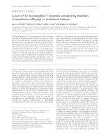 Tài liệu Báo cáo Y học: A pool of Y2 neuropeptide Y receptors activated by modifiers of membrane sulfhydryl or cholesterol balance pot