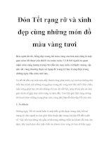 Tài liệu Đón Tết rạng rỡ và xinh đẹp cùng những món đồ màu vàng tươi pdf