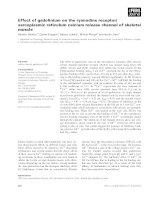 Tài liệu Báo cáo khoa học: Effect of gadolinium on the ryanodine receptor/ sarcoplasmic reticulum calcium release channel of skeletal muscle docx