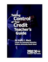 Tài liệu Taking Control of Your Credit Teacher's Guide docx