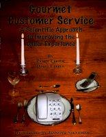 Tài liệu gourmet customer service ppt