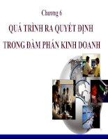 Tài liệu Chương 6: QUÁ TRÌNH RA QUYẾT ĐỊNH TRONG ĐÀM PHÁN KINH DOANH ppt